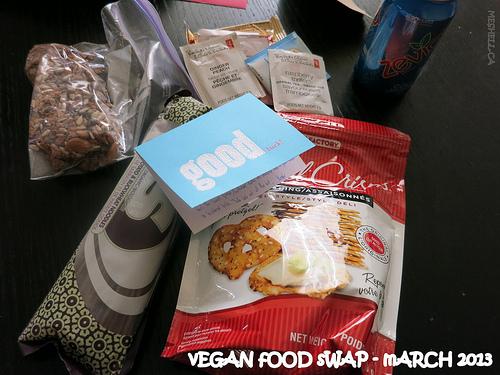 All the stuff from vegan food swap fun