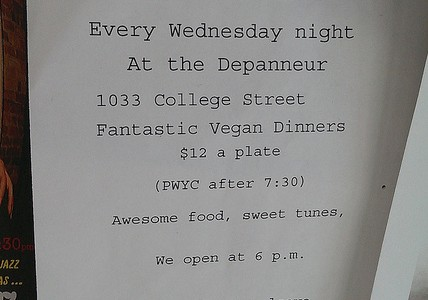 Drop-in-dinner – Vegan Night at the Depanneur with Emily Zimmerman