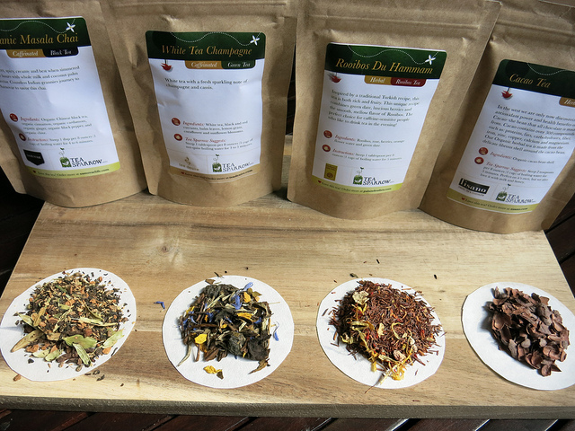 All the teas together from Tea Sparrow