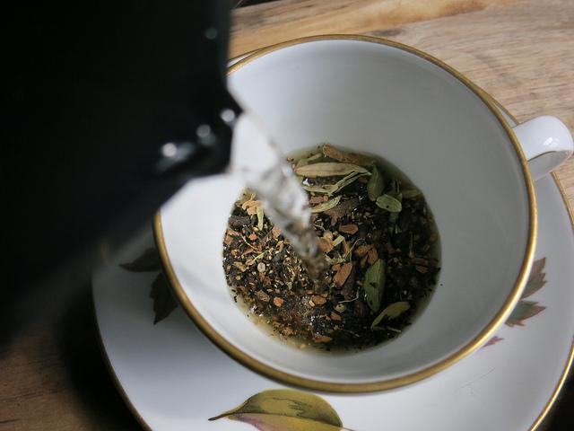 Chai tea steeping