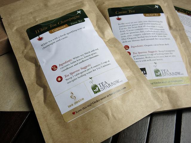 Tea Sparrow Packaging