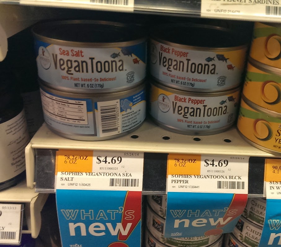 VeganToona On Shelf