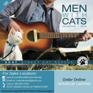 street cat rescue men with cats calendar