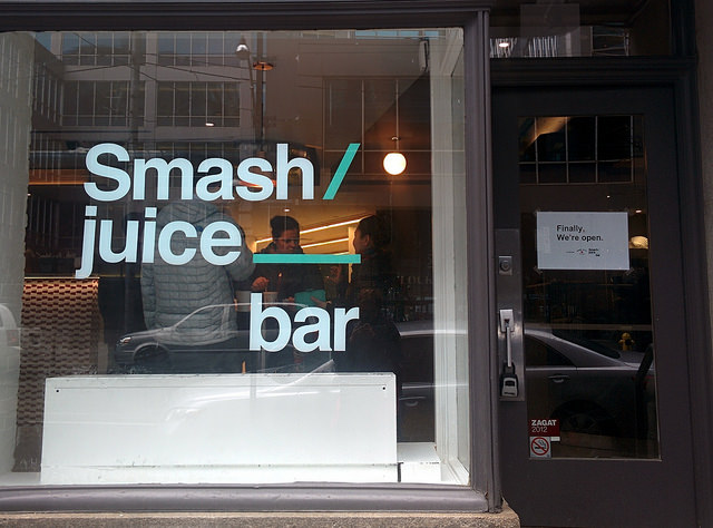 Smash Juice Bar outside