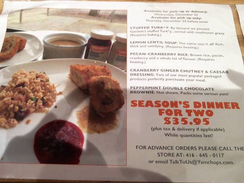 Seasons Dinner for Two YamChops
