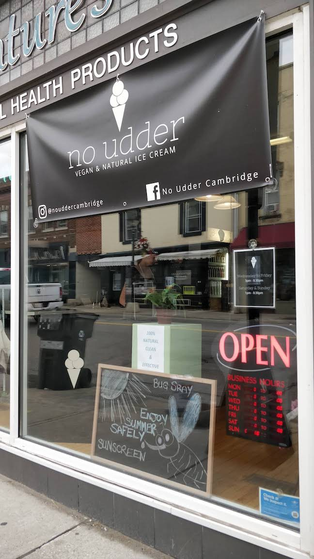 Cambridge, Ontario – No Udder Vegan Ice Cream