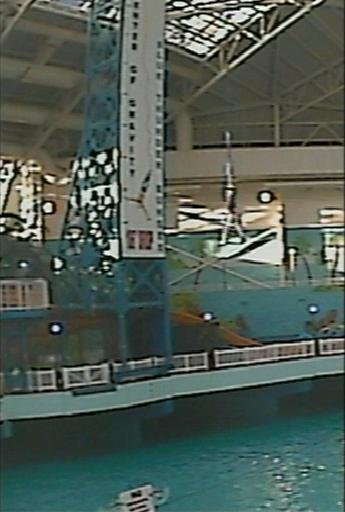 Jumping off the highest indoor bungee platform