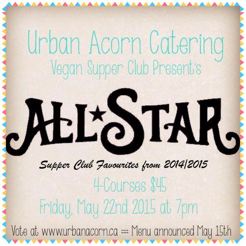 Urban Acorn Vegan Supper Club Series: All-Stars